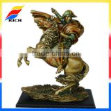 bronze paiting miniature polyresin figurine knight statue