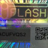 Competitve custom hologram sticker holographic security label with transparent serial number