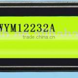 Transflective Positive type, wide temperature, Yellow-green LED, Graphic LCD Module