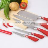 Horseshoe shape kitchen 5pcs knife set with stainless steel+rubber handle