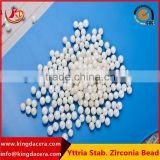 2016 Hot Sale White Polished Ceramic Zirconia Beads for grinding