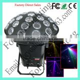 Branded factory price 3*9w rgb 3 in 1 leds mushroom dj led effect light