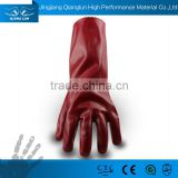 Fleece lined anti chemical PVC coated cut resistant gloves