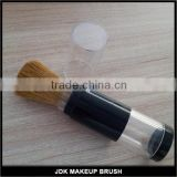 Hot selling refillable body powder blush loose powder container brush, Goat hair refillable brush