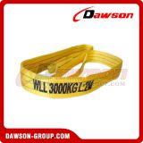 3 Ton Polyester Webbing Slings color code of yellow for lashing
