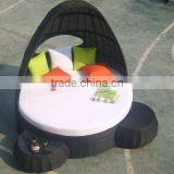 popular PE rattan loung for outdoor