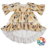 Wholesale Boutique Kids Half Sleeve Tops Shirts Ruffle Shirts For Girls