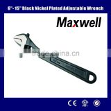 "6""-15""black nickel plated Adjustable Wrench"