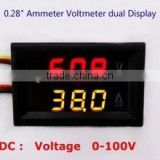 "0.28"" DC 0-100V Voltmeter and Ammeter Panel Meter Dual Color (0-50A )"