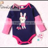 fashion new girls cartoon rabbit animal long sleeve rompers infant clothes from china tinaluling