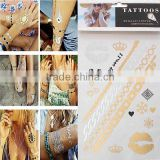 Multi-color Body Art Multicolor Mixed Pattern Removable Waterproof Metallic Temporary Tattoos Wholesale