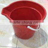 plastic round bin container bucket with handle