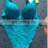 Lady's Sexy blue seamless lace bra/underwear/lingrie