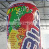 High quality audit factory air standing bottle promotion advertising pvc dispaly inflatable beer can