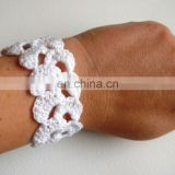 Wedding bracelet White cotton bracelet Crochet Bracelet Birthday gift Lace Trim bracelet