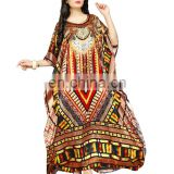 Women's Casual Wear Ethnic 3D Digital Printed Kaftan Designs 2017