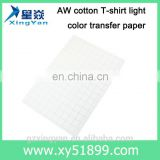 U.S. imports. AW cotton T shirt light color sublimation paper for sale