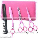 Hairdressing Barber Salon Scissors, Thinning Scissors, Thinning Razors set 5