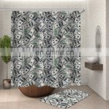 i@home fabric dollar bill luxury bathroom custom print shower curtains polyester and bath mat set