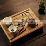 Tea set bamboo tea tray saucer small drawer tea table storage water