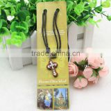 Holyland Wood Cross Necklace