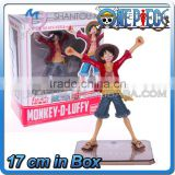 MINI QUTE 17 cm pirate Japanese anime one piece action figure strawhat Monkey D Luffy brinquedos boys in box NO.MQ 068