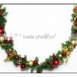 Plastic Christmas Ball Garland,Plastic Christmas Balls With Opening,Custom clear plastic christmas pvc garland