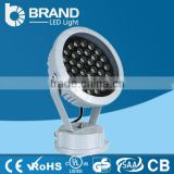 High Quality Out door IP65 Waterpoof DMX512 controlled 36W RGB LED Round Wall Washer Light
