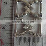 SILVER COLOR Rhinestone Buckles Sliders, Sew On Buckles Notions 1pc, Swimwear/Lingerie buckle