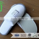 white close toe terry slipper with customized logo for ladies indoor slipper /washable terry slipper