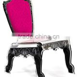 Attractive Vintage Acrylic Silk Screen Chair for Wedding , Hotel and Living Room
