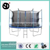 14ft manufacturer of fun sport trampoline big heavy duty round trampoline round fitness mats with child safety net