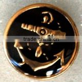 gold color carve metal button for coat