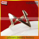 18K Rose Gold Plating Lightning Design Finger Rings Fashion Stainless Steel Jewelry Wholesale