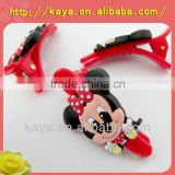 Customized promotion 3d soft plastic wholesale hair clips