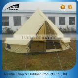 Heavy duty outdoor camping bell tent 5m cotton canvas bell tent teepee tent                                                                                                         Supplier's Choice
