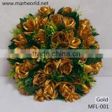 2016hot noble gold artificial flower wedding rose flower for wedding decoration centerpiece party,home&hotel decoration(MFL-001)                                                                         Quality Choice