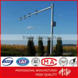 Anti-rust Got Dip Galvanized Height 8m Single Arm Traffic Telescopic cctv Camera monitor pole
