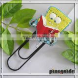 Handmad Customise Logo Cute Cartoon Figure Soft Rubber Square Paper Clips For Books