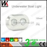 Wholesale outdoor 316L stainless steel 12v 120w swimming pool led underwater lights outdoor led boat lights