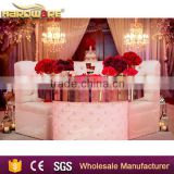 stainless steel frame square and round glass top wedding cake tables                                                                         Quality Choice
