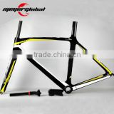 China supply factory price with 3K/UD weave full carbon fiber toray 700c road bike frame and forks