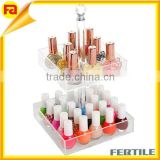 Rotating acrylic lipstick holder Acrylic Cosmetic/Modern Deluxe Makeup Organizer display
