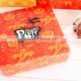 Yellow pumpkin Halloween candy box of biscuits small west baking box egg tarts puffs nougat packing box
