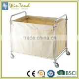 Commercial linen cart dirty cleaning hotess trolley