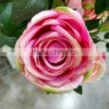 wholesale artificial silk rose flower head
