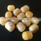 Natural Baltic Amber barrel beads yellow - white color 22-25mm