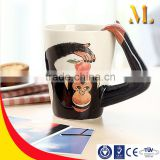 Hot sale Creative 3D chimpanzee/zebra shape mugs coffee mug for lovers gift/christmas gift