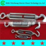 Hot dip galvanized turnbuckle / drop forged steel turnbuckle with hook and eye