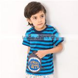 OEM/ ODM Children's T-Shirts black strip 100% cotton with high quality fabric and paint care every inch of your sweetheart skin